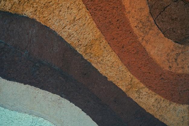 Forma di strati di terreno, colore e consistenza, strati di consistenza della terra, fondo del suolo