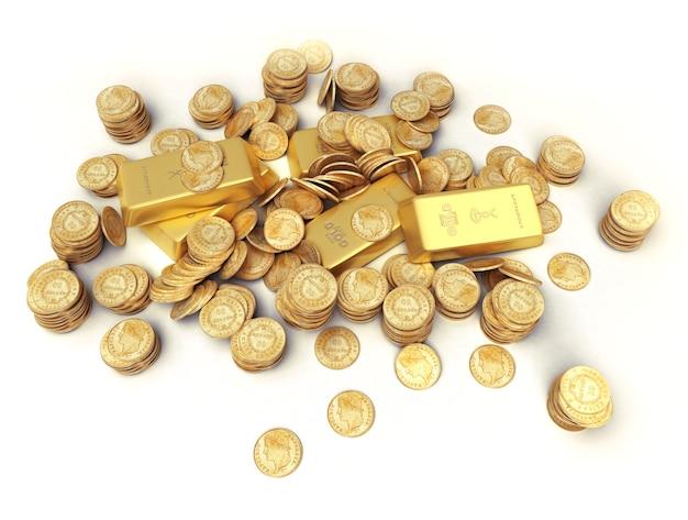 Una fortuna in lingotti e monete d'oro