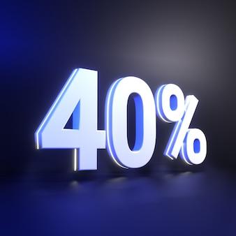 Quaranta per cento di rendering del numero