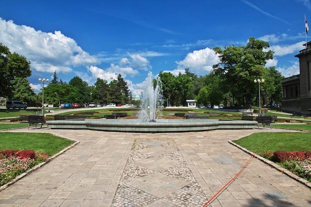 La fontana nella città di belgrado, serbia
