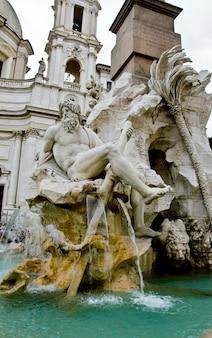 Fontana dei quattro fiumi (fontana dei quattro fiumi) a roma