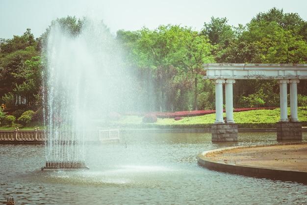 Fontane e stagni nel parco