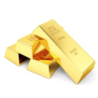 Quattro lingotti d'oro