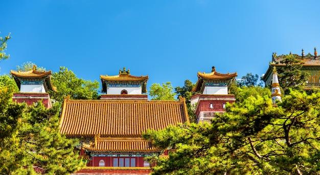 Tempio delle quattro grandi regioni presso il palazzo d'estate a pechino, cina