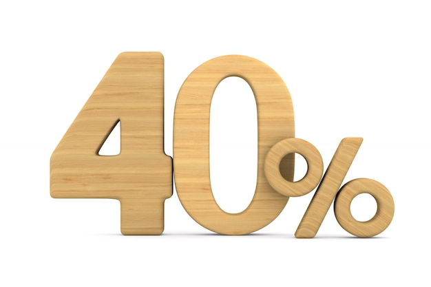 Quaranta per cento su bianco