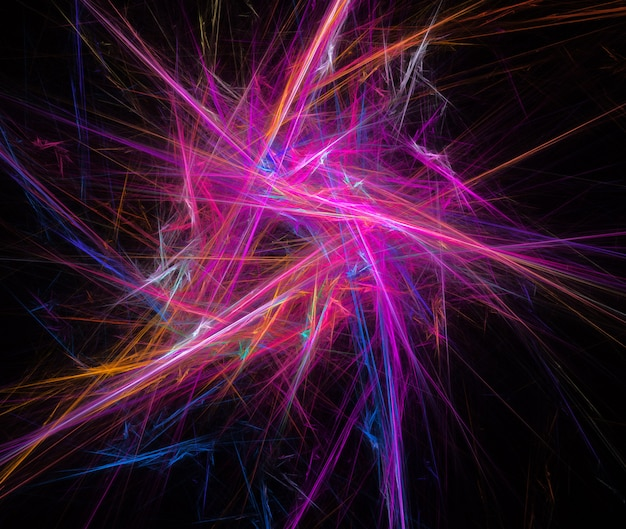 Immagine frattale di linee colorate che formano un movimento vortice.