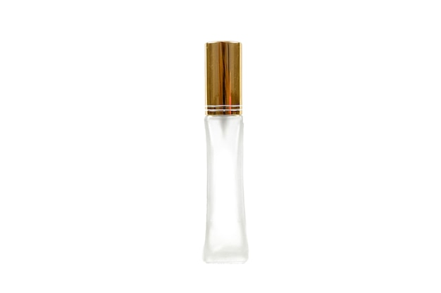 Bottiglie di profumo, la bottiglia di profumo isolare sulla superficie bianca