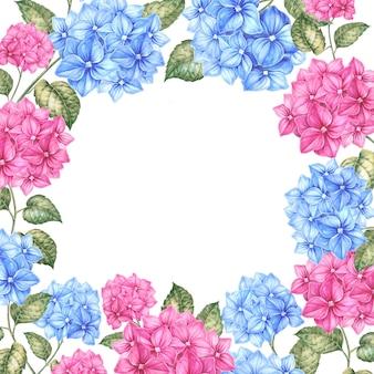 Cornice di fiori di colore.
