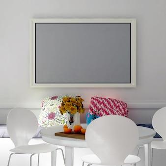 Frame mockup interior dining room
