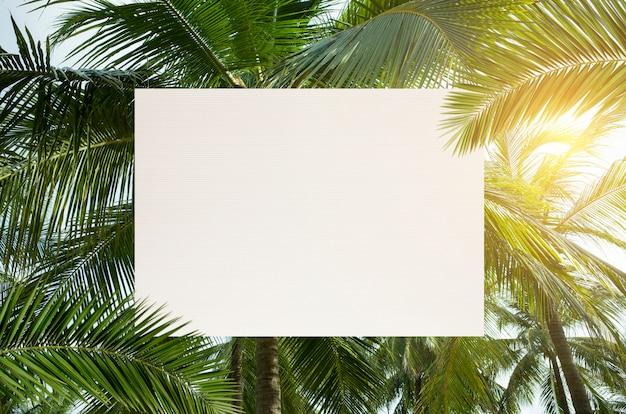 Cornice di piante tropicali