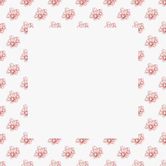 Incorniciato floreale dai fiori che sbocciano del giglio di peonia, fiore di gigli in fiore bianco. ornamento floreale