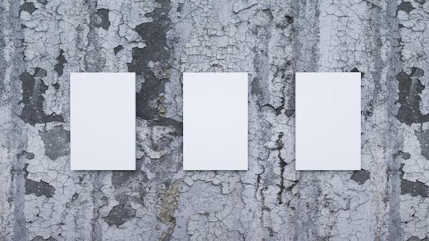 Cornici su un muro stradale