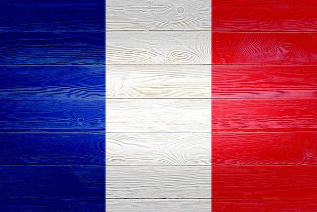 Bandiera della francia dipinta su assi di legno