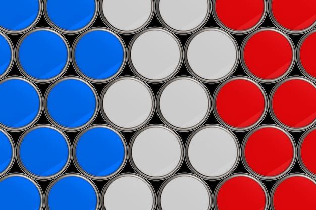 Fondo del modello della bandiera della francia in un secchio di colore