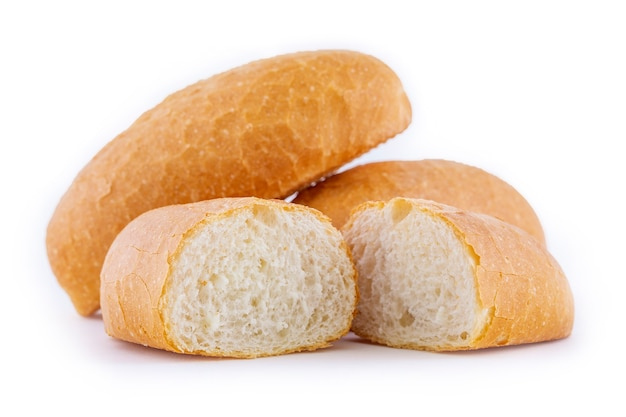 Pane francese isolato su bianco
