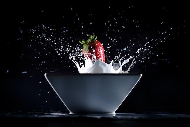 Fresas y leche