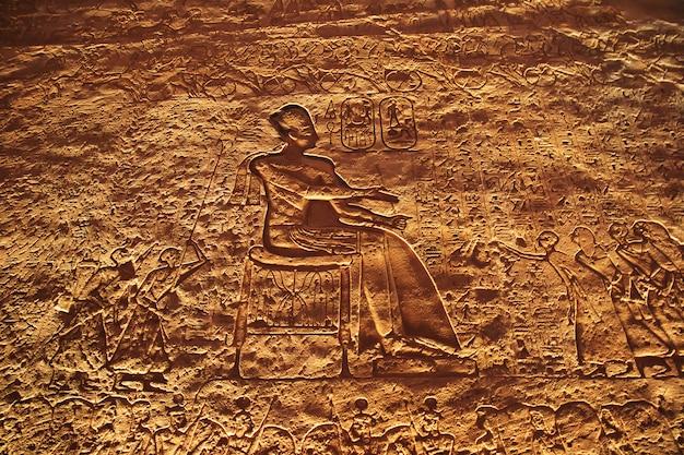 Affreschi nel tempio di abu simbel
