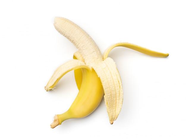 Banana fresca isolata su fondo bianco