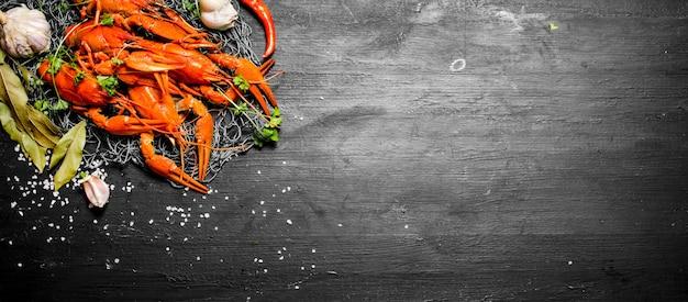 Aragosta bollita fresca con spezie ed erbe aromatiche