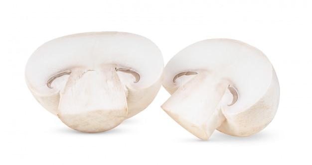 Funghi freschi del fungo prataiolo su bianco