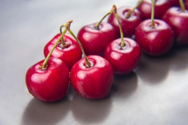 Bacca di ciliegia fresca. cibo sano per la colazione