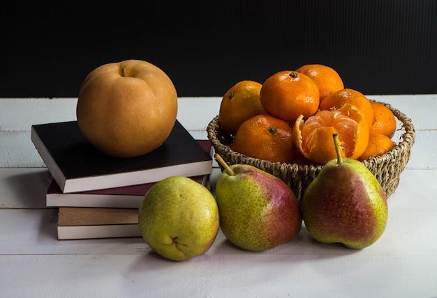 Friut.orange fresco, pera