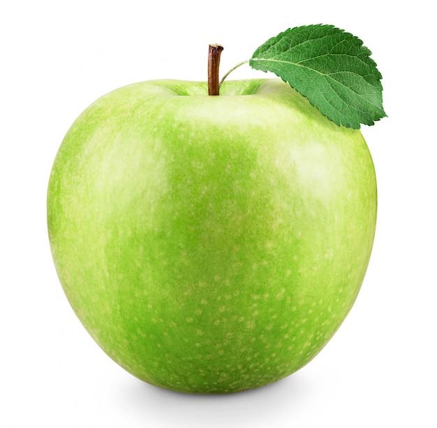 Mela verde fresca isolata su bianco Foto Premium