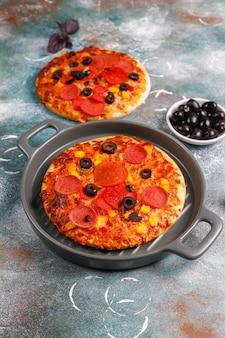 Pizzette fresche fatte in casa.