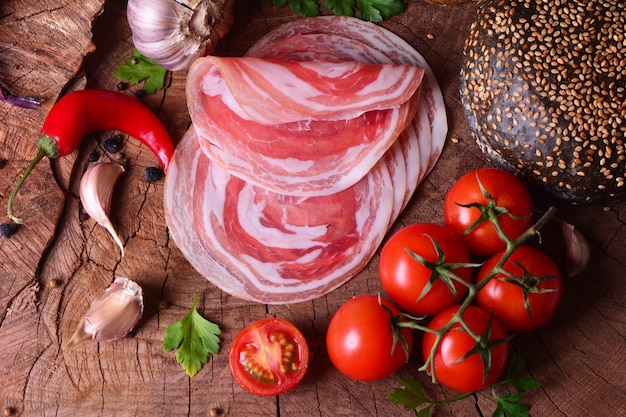 Pancetta di carne fresca