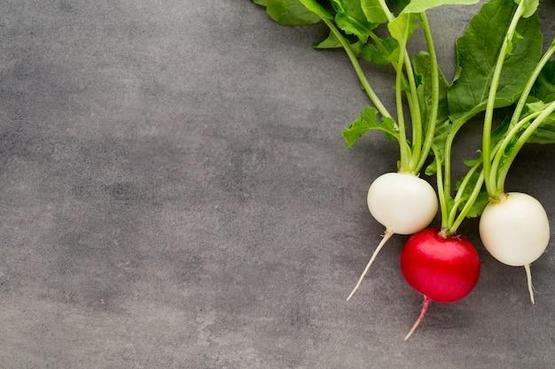 Ravanelli rossi e bianchi freschi
