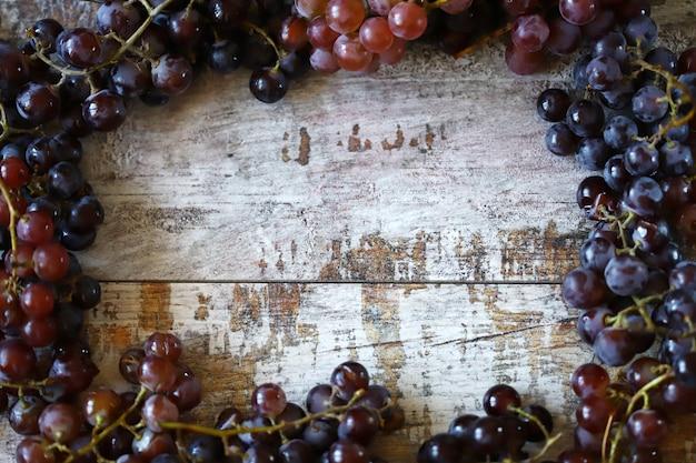 Uva fresca matura uva raccolta