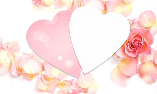 Petali di rosa freschi