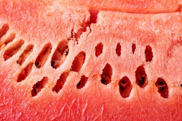 Priorità bassa di struttura di anguria affettata fresca