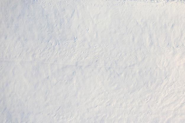 Neve bianca soffice e soffice fresca