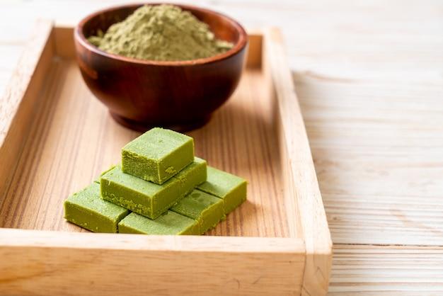 Cioccolato al tè verde matcha fresco e morbido