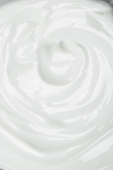 Texture di panna acida fresca.