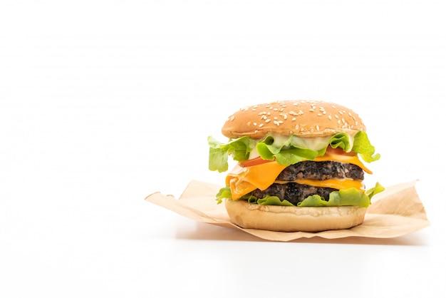 Hamburger fresco gustoso su bianco