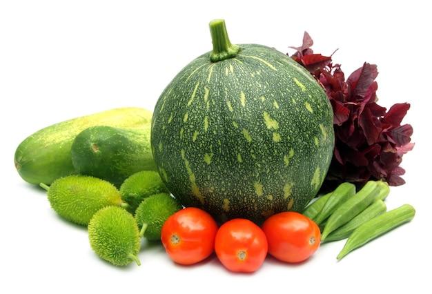 "Verdure fresche ãƒâƒã'â¢ãƒâ'ã'â€ãƒâ'ã'â"" zucca verde, cetriolo, pomodoro e gombo, amaranto e kakrol"