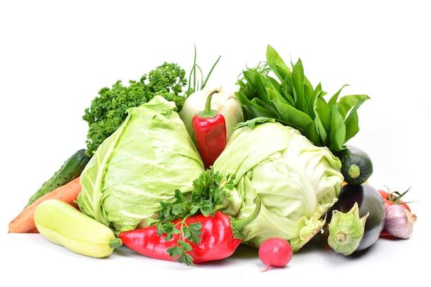 Verdure fresche isolate