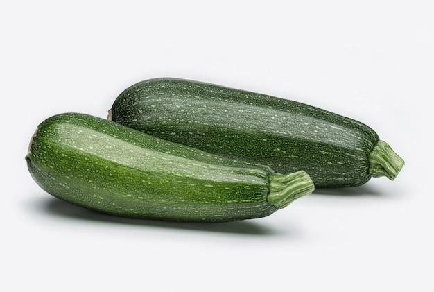 Verdure fresche. nature morte. due zucca verde.