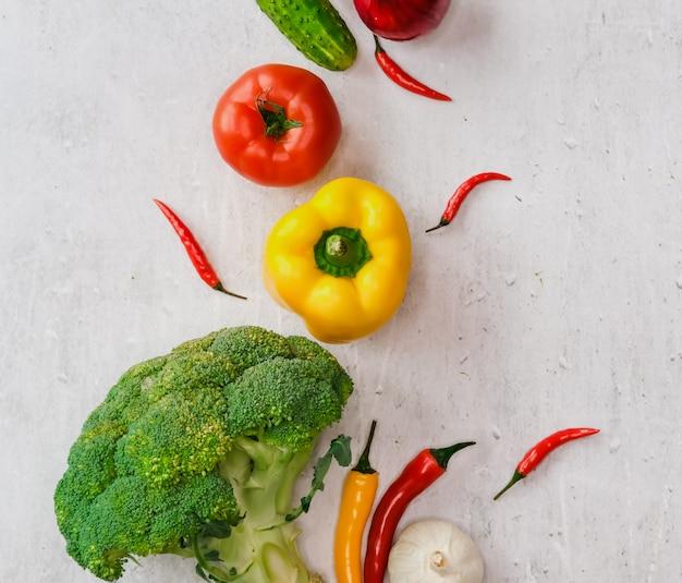 Superficie di verdure fresche