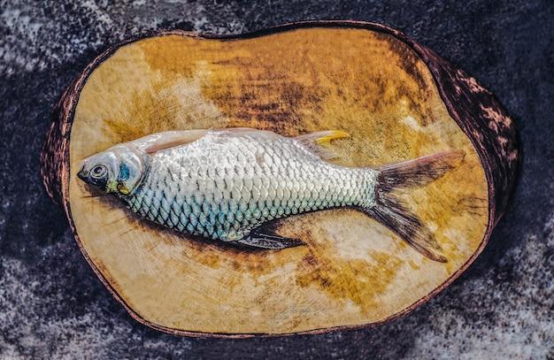 Pesci d'acqua dolce barbonymus gonionotus di pesce prodotto in serie dal mercato fresco