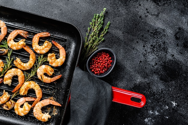 Gamberoni fritti, gamberi in padella.