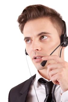Operatore telefonico amichevole
