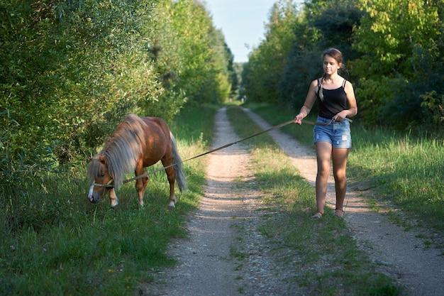 Amicizia tra bambino e cavallo