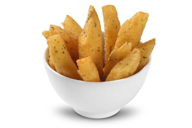 Patatine fritte in una ciotola.