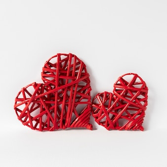 Vista frontale della bella del concetto di san valentino