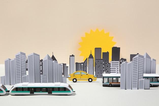 Composizione del trasporto pubblico di vista frontale