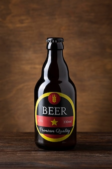 Disposizione gustosa birra americana vista frontale