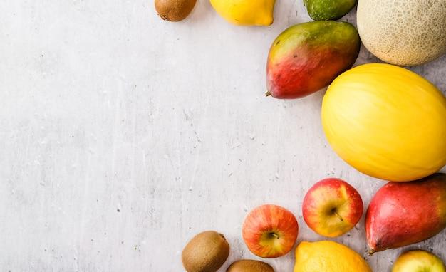 Superficie della cornice di frutta